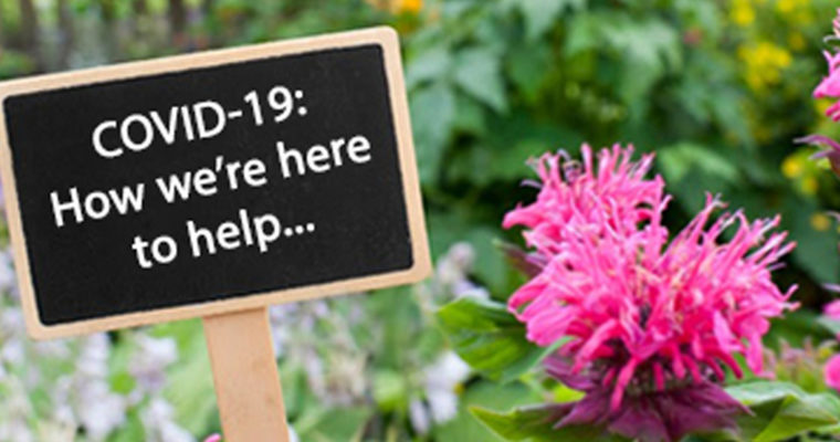 COVID-19: We're here to help…